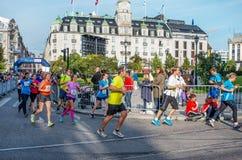 De Marathon van Oslo, Noorwegen Stock Afbeelding