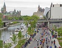 2013 de Marathon van Ottawa Stock Foto's