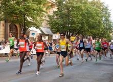 De Marathon van Praag Stock Fotografie