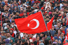 De Marathon van Vodafone Istanboel, toont team, Ä°stanbul Stock Afbeelding