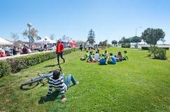 De marathon van vrouwen in Palma Stock Afbeeldingen