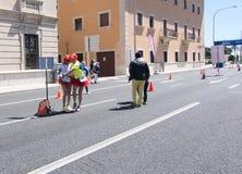 De marathon van vrouwen in Palma Stock Afbeelding