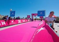 De marathon van vrouwen in Palma Royalty-vrije Stock Foto