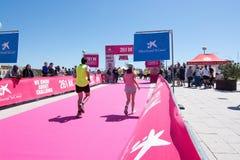 De marathon van vrouwen in Palma Royalty-vrije Stock Fotografie