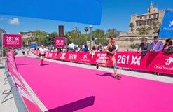 De marathon van vrouwen in Palma Stock Fotografie