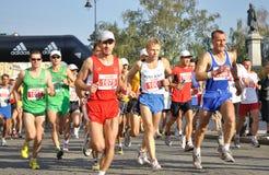 De Marathon van Warshau Stock Foto