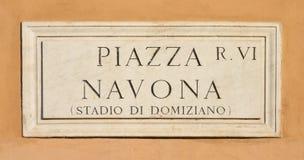 De marbre signez dedans Rome, Italie Photographie stock libre de droits