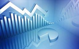 De marché boursier flèche vers le bas Images stock