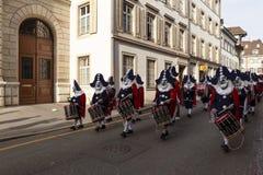 De marcherende Groep van Bazel Carnaval 2019 royalty-vrije stock afbeelding