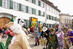 De marcherende Groep van Bazel Carnaval 2019 royalty-vrije stock foto's
