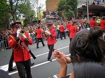 De marcherende Parade van Bandrwc 2011 Kampioenen stock afbeelding
