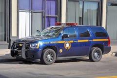 De Marechausseepolitiewagen van New York in Buffels, NY, de V.S. royalty-vrije stock foto's