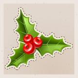 De Maretak van Kerstmis. Oud document Stock Foto