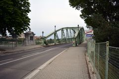 De Maria Valeria-brug die de Slowaakse kant fotograferen royalty-vrije stock foto