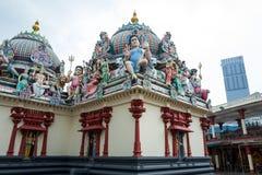 De mariamman tempel van Sri in Singapore stock foto's