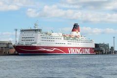 ` De Mariella del ` del transbordador de la travesía del mar en el terminal del ` de Viking Line del ` de la compañía Imagenes de archivo