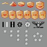De Mariene Weelderige Insignes Corp van de V.S. - de Textuur van de Stof Stock Foto's