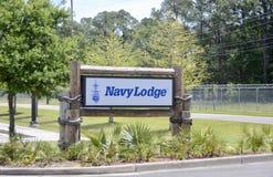 De marine brengt Hotel onder stock foto