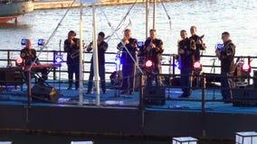 De Marine Plechtige Band van de V.S. stock video