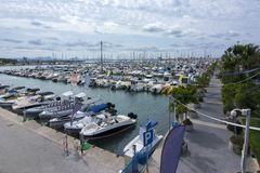 De marine van havenalcudia, Mallorca, de Balearen, Spanje stock foto