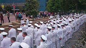De Marineambtenaren van Nieuw Zeeland stock foto's