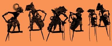 De Marionet van de schaduw: Vector royalty-vrije illustratie
