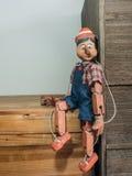 De marionet van Pinocchio Stock Foto