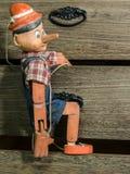 De marionet van Pinocchio Stock Afbeeldingen
