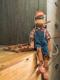 De marionet van Pinocchio Royalty-vrije Stock Afbeeldingen