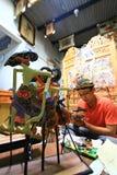 De Marionetten van ambachtwayang Stock Afbeelding