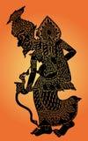 De Marionetten van de kluizenaarschaduw royalty-vrije illustratie