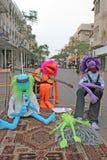 De marionetten van de straat Stock Afbeeldingen