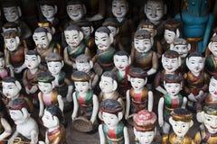De Marionetten van het water met één die mist Stock Afbeeldingen