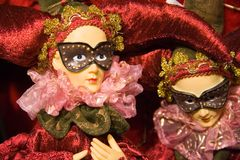 De marionetten van Kerstmis Royalty-vrije Stock Afbeelding