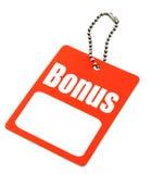 De markering van de bonus met exemplaarruimte stock foto's