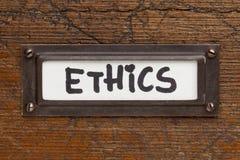 De markering van de ethiek - het etiket van het dossierkabinet royalty-vrije stock fotografie