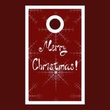 De markering van de Kerstmisverkoop met sneeuwvlokken en Vrolijk Stock Fotografie