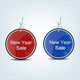 De markering van de nieuwjaarverkoop Stock Foto's