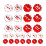 De Markering van de stickerverkoop Stock Fotografie