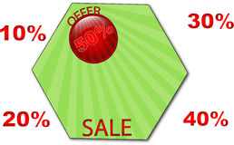 De markering van de verkoop Stock Foto's