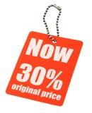 De markering van de verkoop op witte achtergrond Royalty-vrije Stock Fotografie
