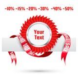 De markering van de verkoop. Vector etiket Stock Fotografie