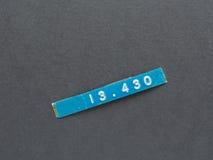 De markering van het inventarisetiket stock foto