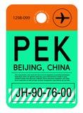 De markering van de de luchthavenbagage van Peking royalty-vrije illustratie