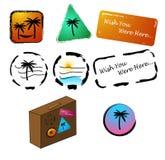 De Markeringen en de pictogrammen van de vakantie Stock Afbeelding