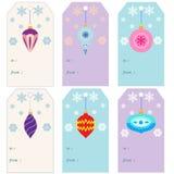 De markeringen en de uitnodigingenkaart van de Kerstmisgift met Kerstmisspeelgoed Stock Foto