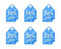 De markeringen van de de winterverkoop. Stock Foto's