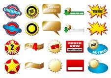 De markeringen van de elektronische handel Stock Foto's