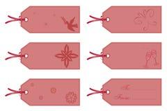 De markeringen van de gift in roze royalty-vrije illustratie