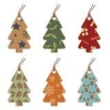 De markeringen van de kerstboom vector illustratie